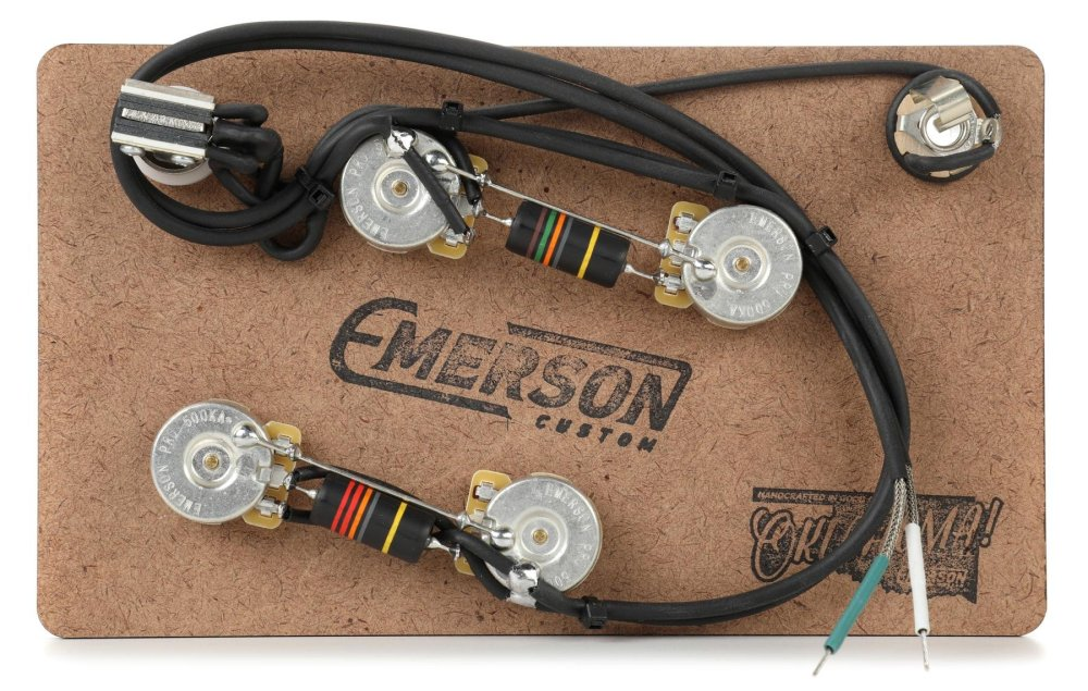medium resolution of emerson custom prewired kit for gibson es 335