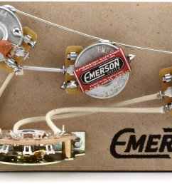 emerson custom 5 way blender prewired kit for fender stratocasters 250kohm pots [ 1800 x 1113 Pixel ]