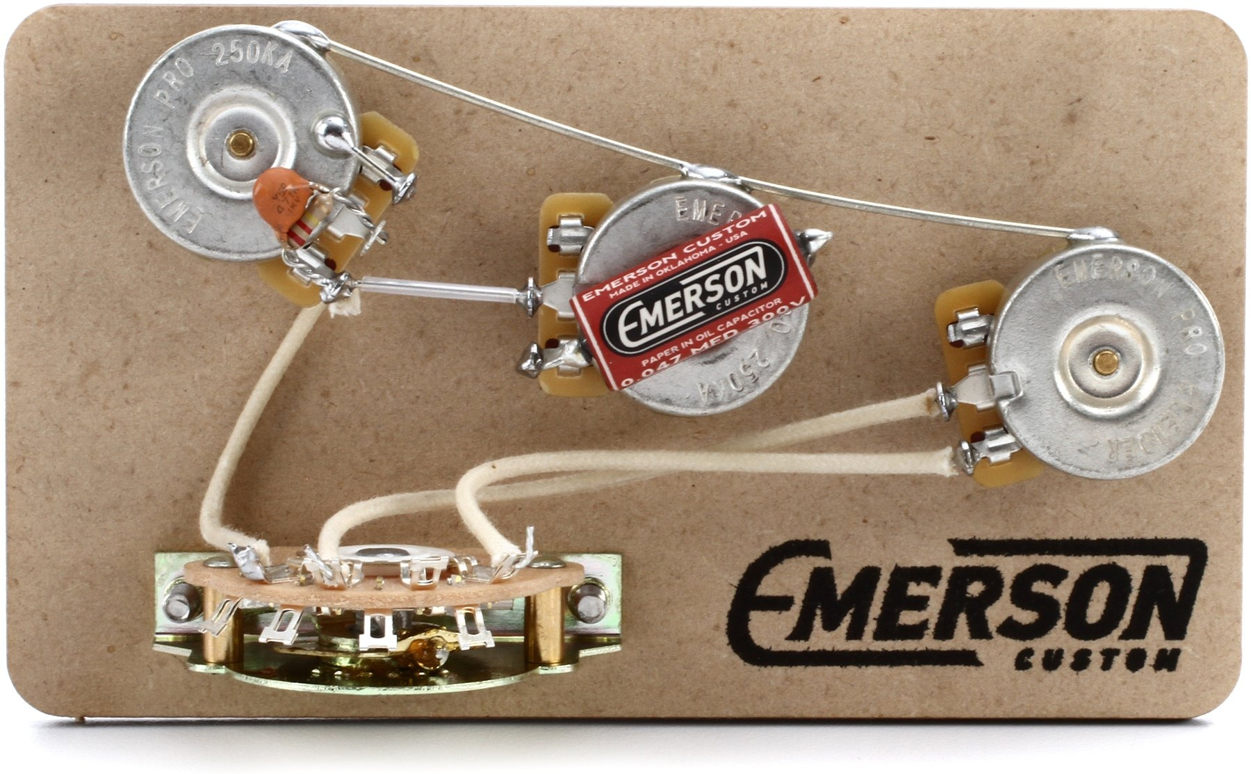 hight resolution of emerson custom 5 way blender prewired kit for fender stratocasters 250kohm pots