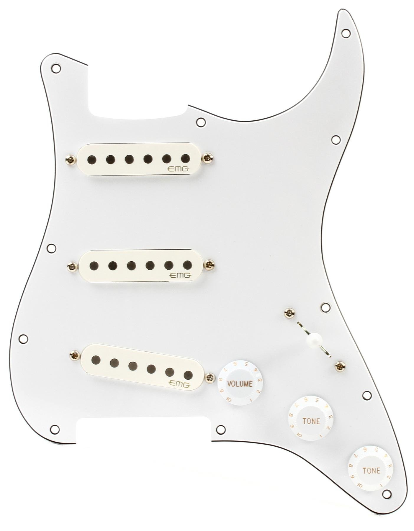hight resolution of emg ra 2 pro retro active strat style pre wired pickguard s