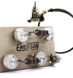 emerson custom prewired kit for les paul guitars long shaft with 3 way [ 1307 x 1125 Pixel ]
