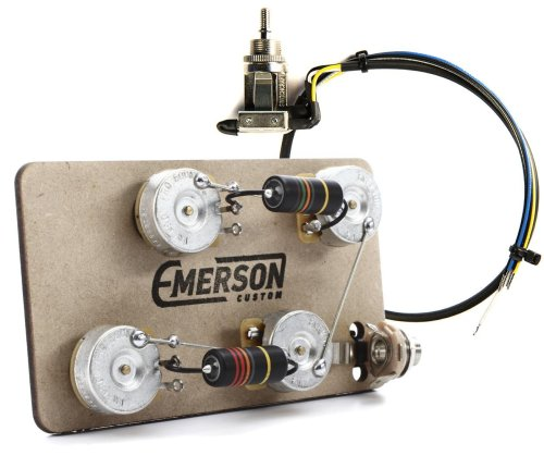 small resolution of emerson custom prewired kit for les paul guitars long shaft with 3 way