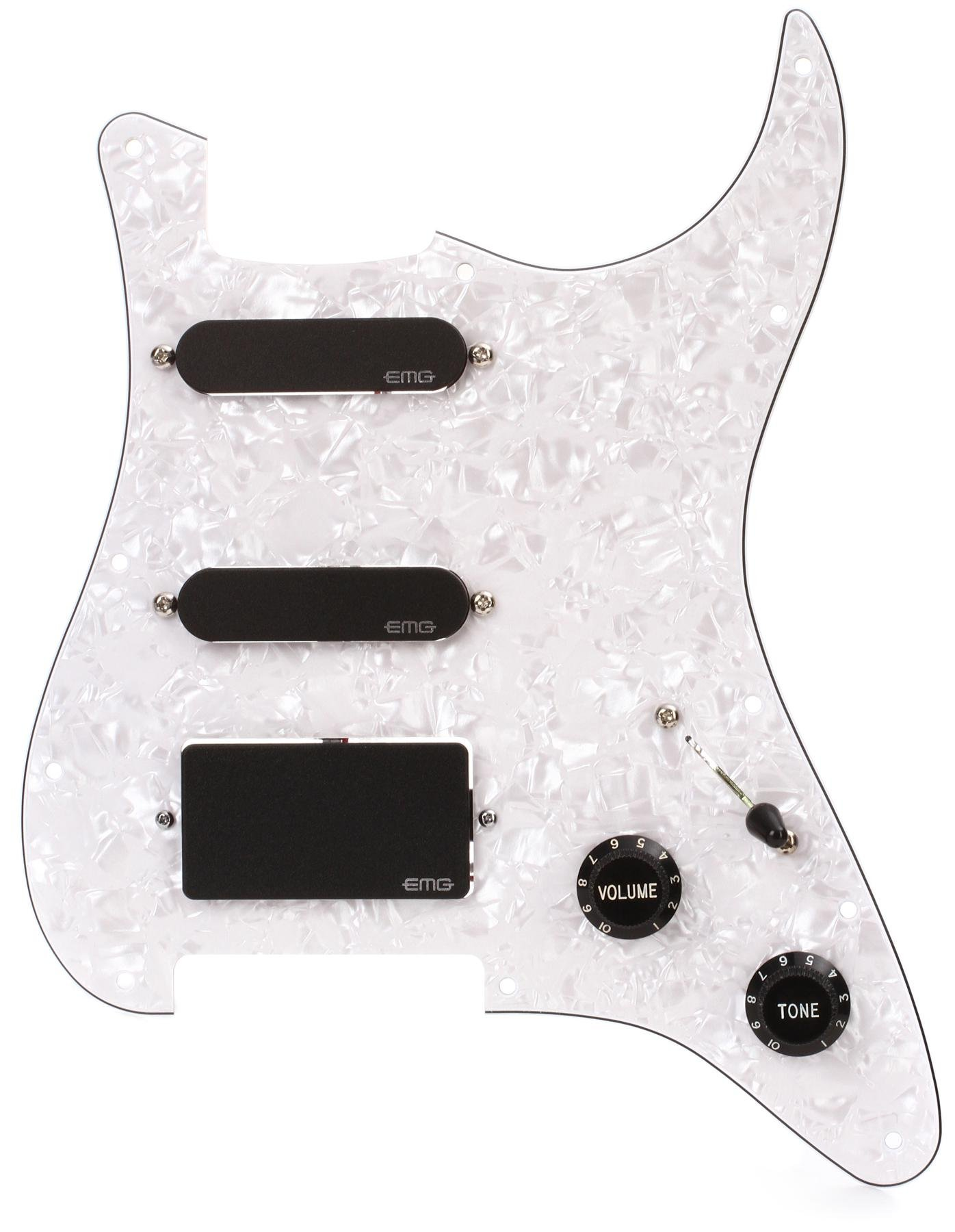 hight resolution of emg kh20 kirk hammett wired pickguard with pickups