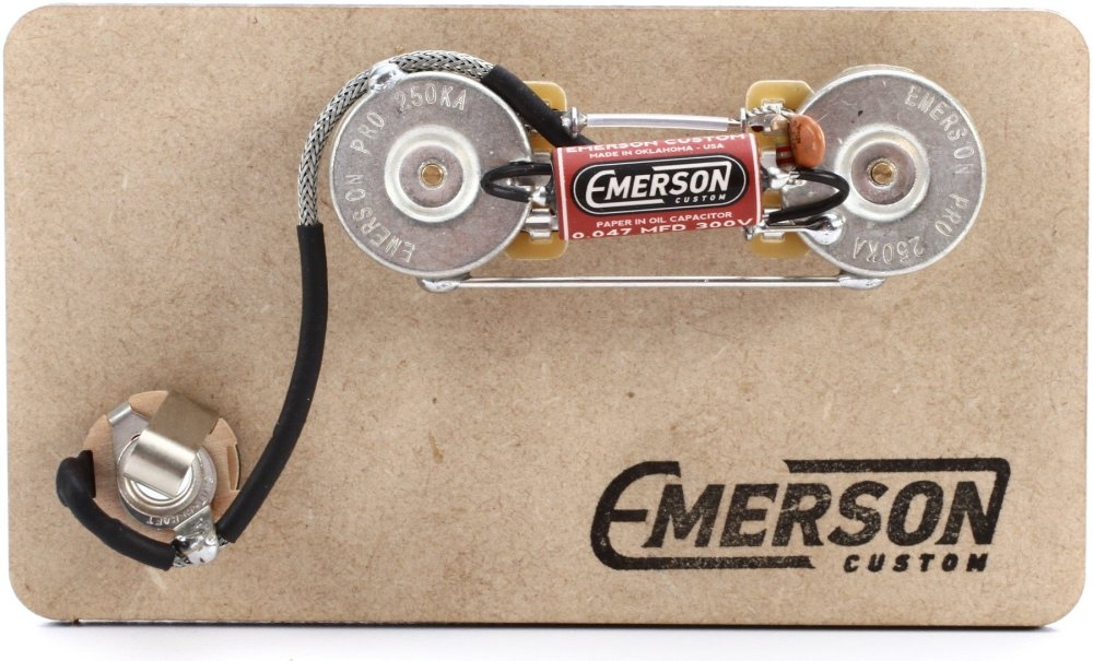 medium resolution of emerson custom prewired kit for precision bass image 1