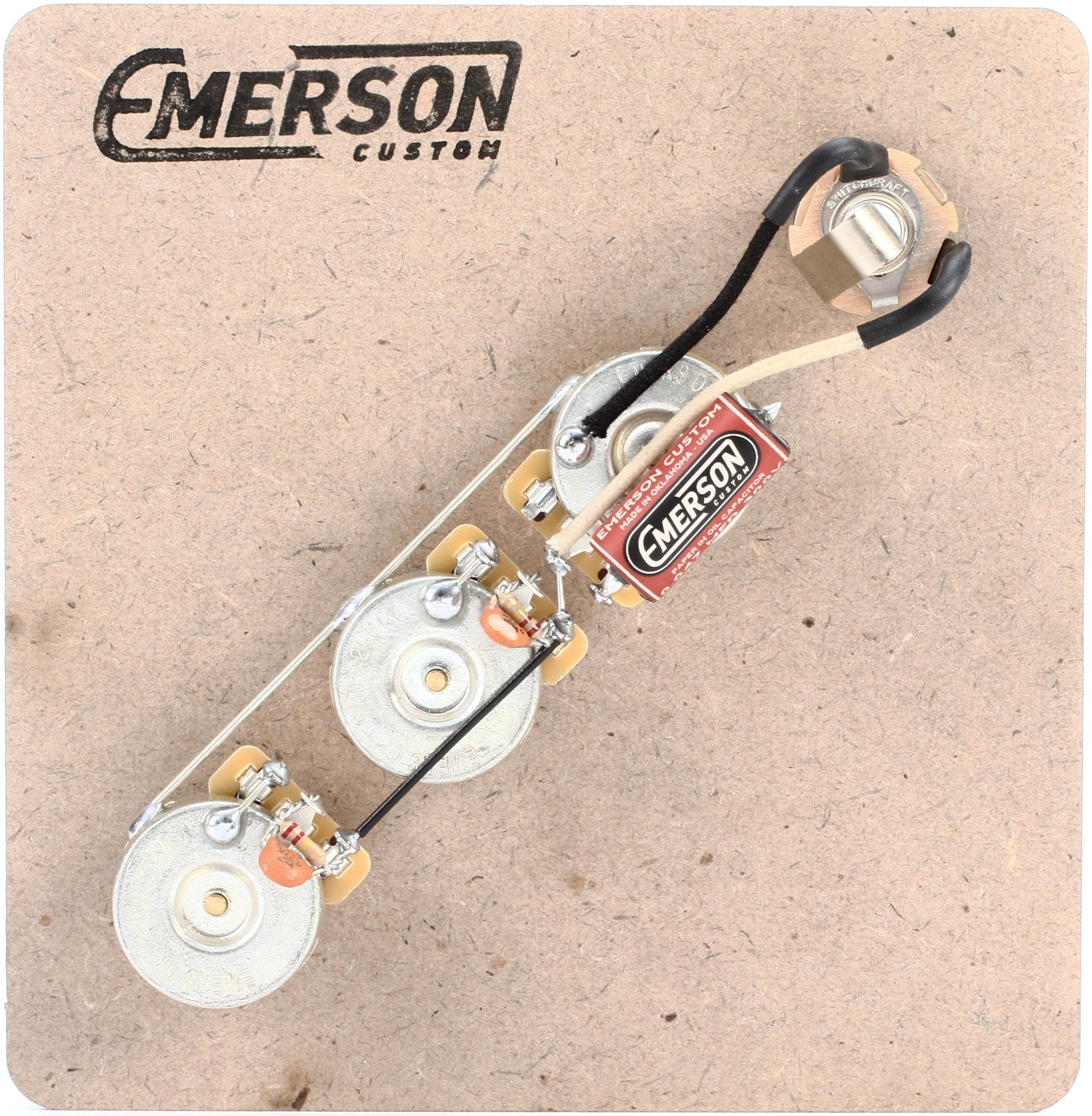 hight resolution of emerson custom prewired kit for fender jazz bass