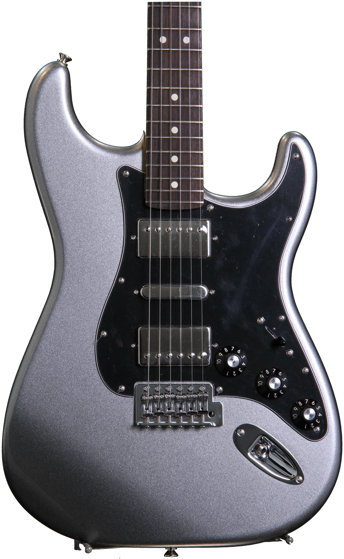 hight resolution of fender blacktop stratocaster hsh titanium silver image 1