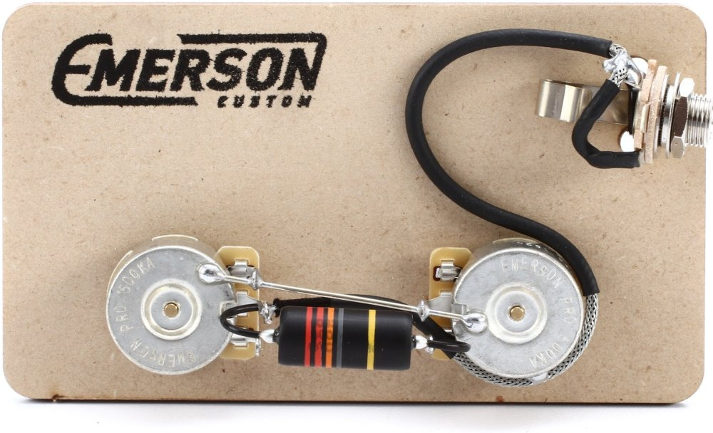 medium resolution of emerson custom prewired kit for gibson les paul junior image 1