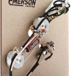 emerson custom 4 way prewired kit for telecaster guitars 250k pots [ 1322 x 1800 Pixel ]