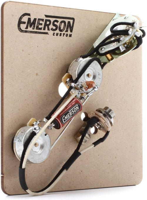small resolution of emerson custom 4 way prewired kit for telecaster guitars 250k pots
