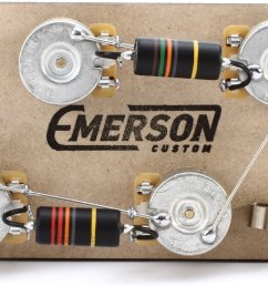 emerson custom prewired kit for gibson les paul guitars long shaft image 1 [ 1800 x 1129 Pixel ]