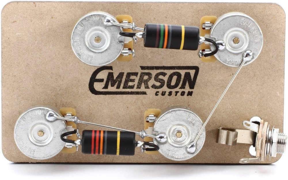 medium resolution of emerson custom prewired kit for gibson les paul guitars long shaft image 1