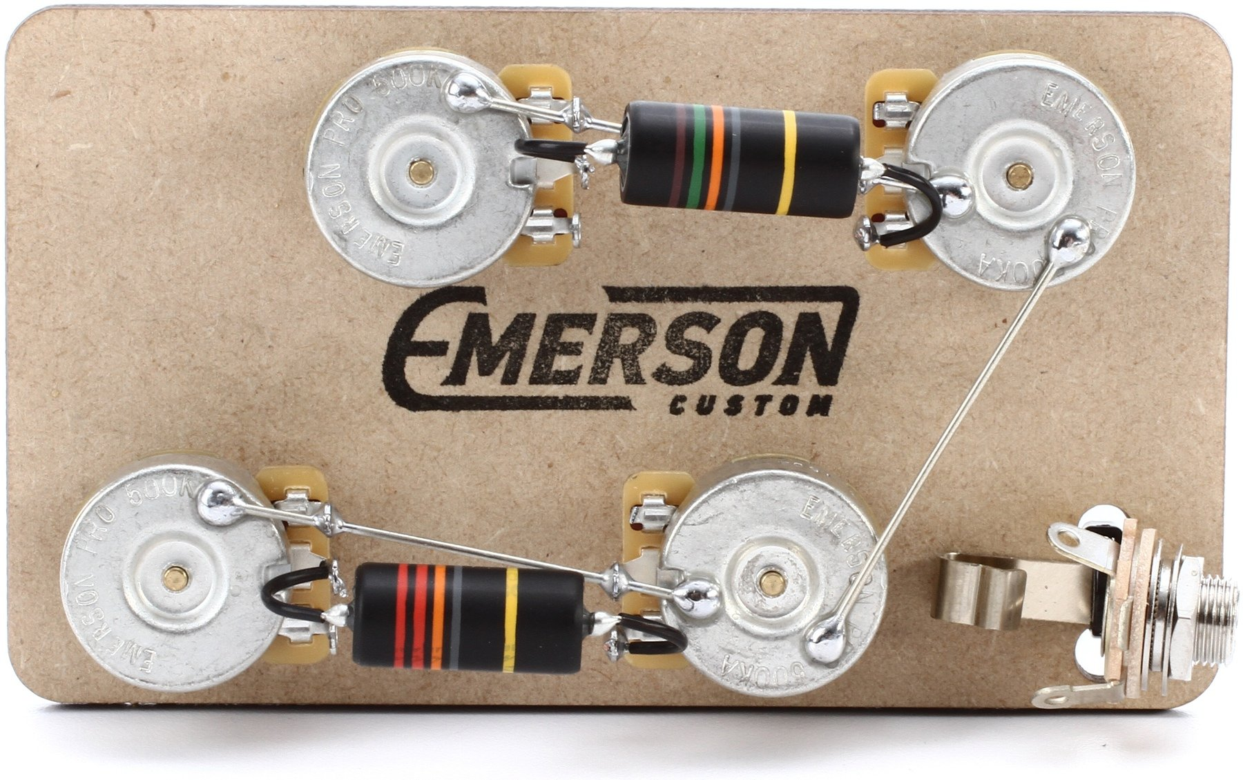 hight resolution of emerson custom prewired kit for gibson les paul guitars long shaft
