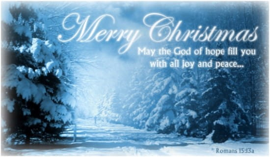 Romans 15 13a ECard Free Christmas Cards Online