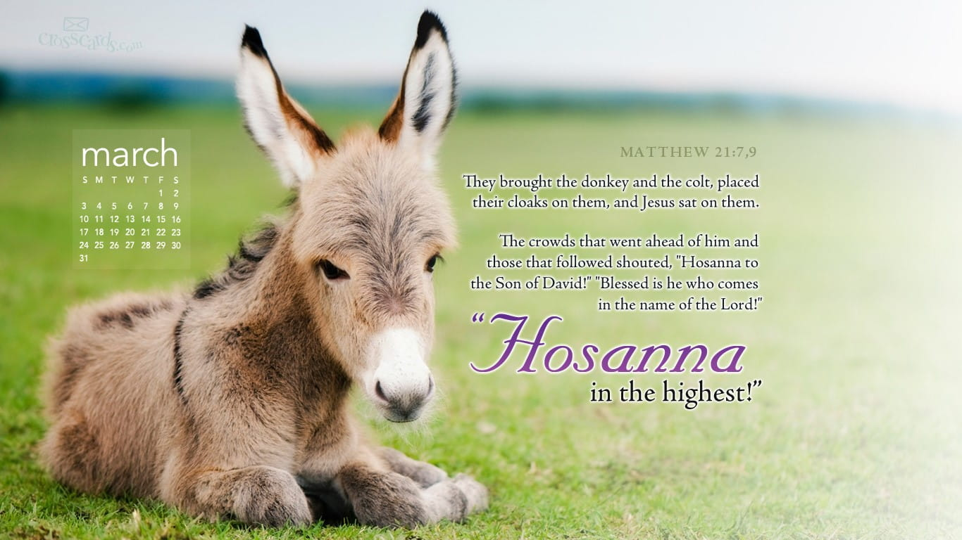 March 2013 Hosanna Desktop Calendar Free March Wallpaper