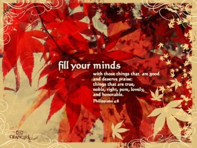 fill your minds bible