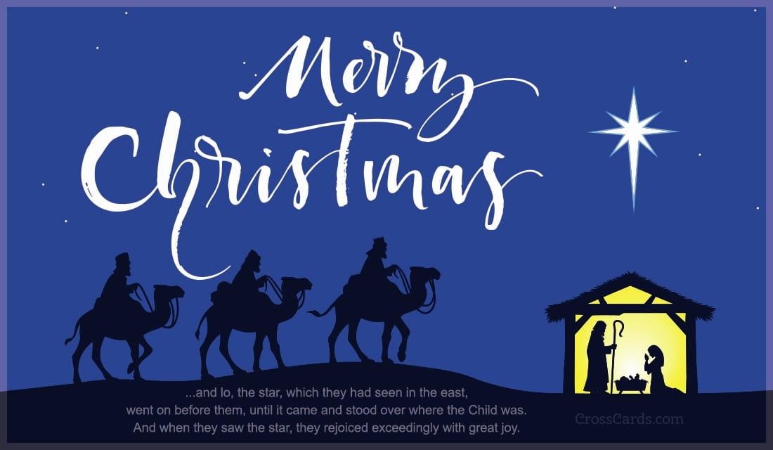 Christian Wallpaper Fall Happy Birthday Merry Christmas Star Of Bethlehem Ecard Free Christmas