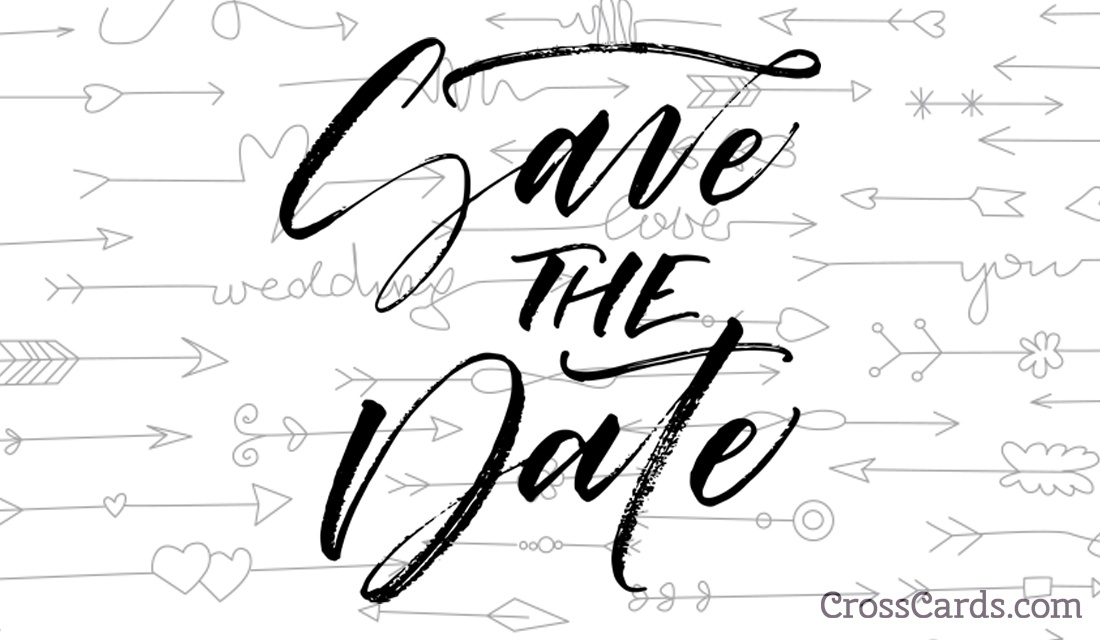 Save the date template email