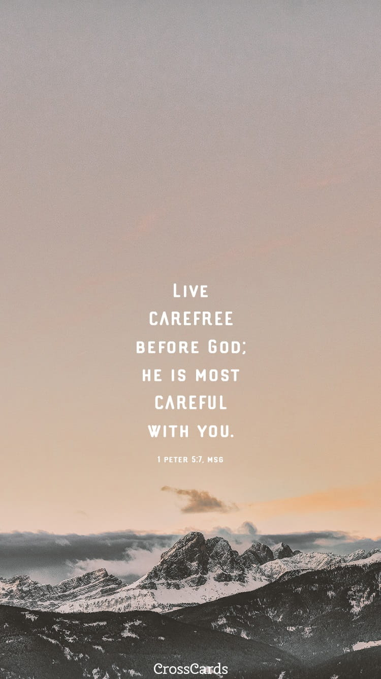 Fall Scripture Iphone Wallpaper 1 Peter 5 7 Msg Phone Wallpaper And Mobile Background