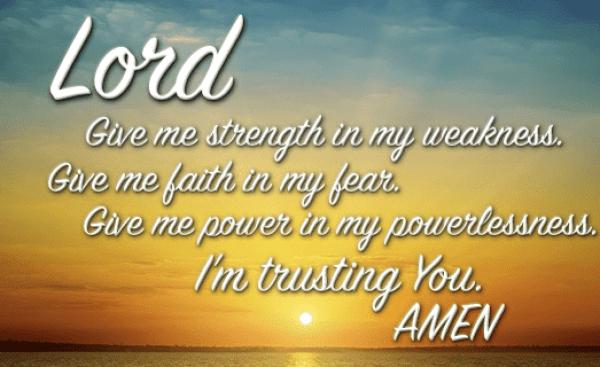 daily prayer for strength