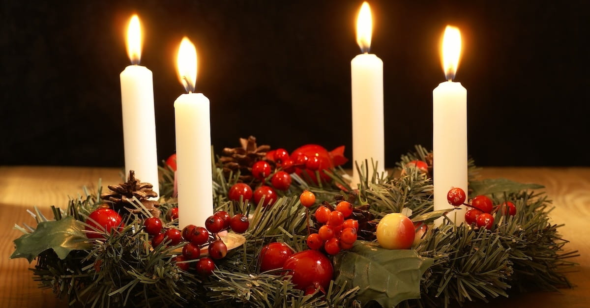 the advent wreath and