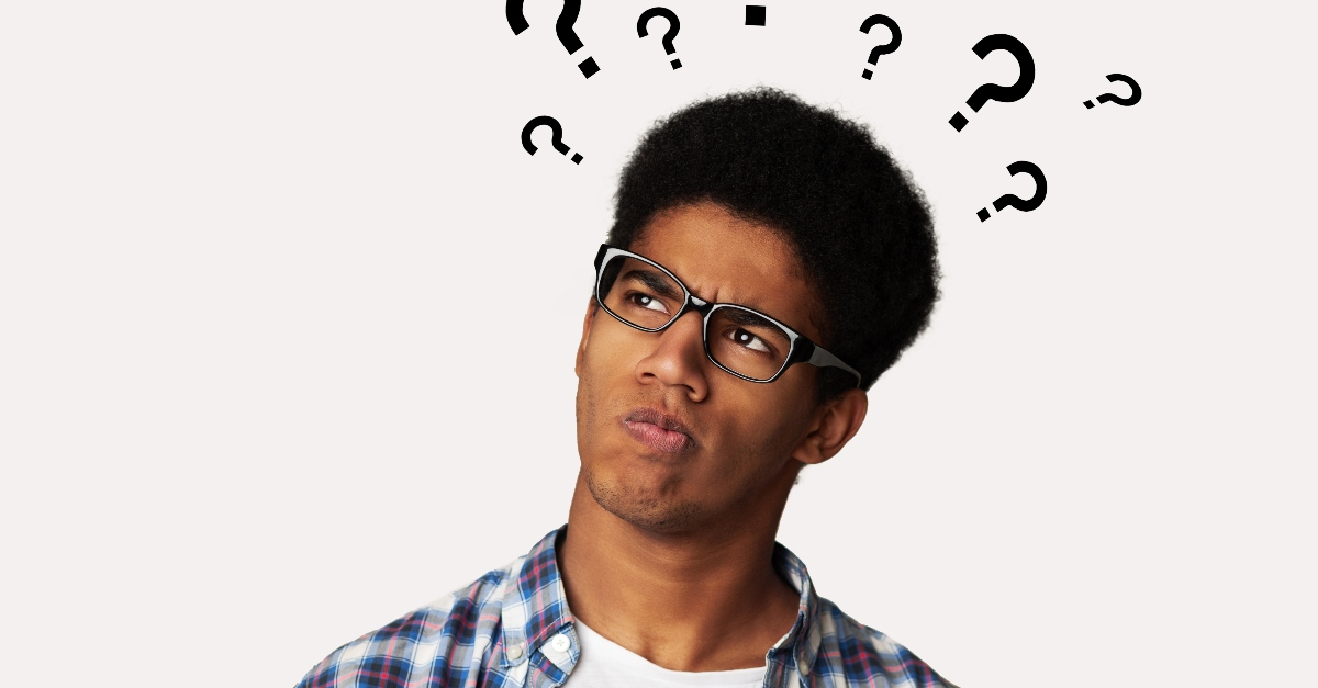 young man looking confused and questioning