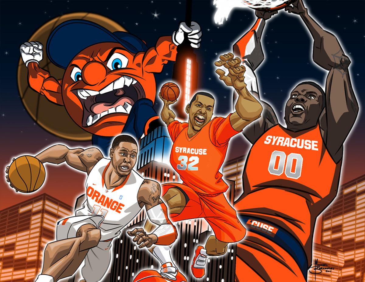 Syracuse Orange Basketballs Scoop Jardine Kris Joseph