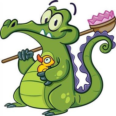 Резултат слика за krokodil crtež