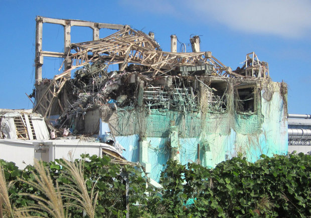 A reactor building damaged by the 2011 earthquake and tsunami at the crippled Fukushima Daiichi nuclear power plant in Japan is seen in a file photo.
