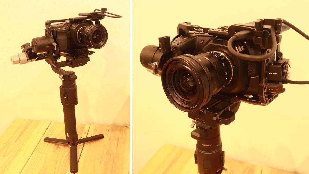 「Blackmagic Pocket Cinema Camera 4K」と「DJIのRONIN-S」