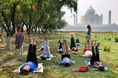 Yoga Class With In The Shadow Of Tajmahal