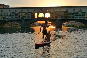 SUP at Ponte Vecchio with a Floating Drink - Florence Paddleboarding