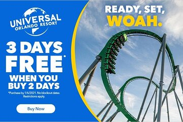 Universal Orlando Park Promotional Tickets - USA / Canada Residents