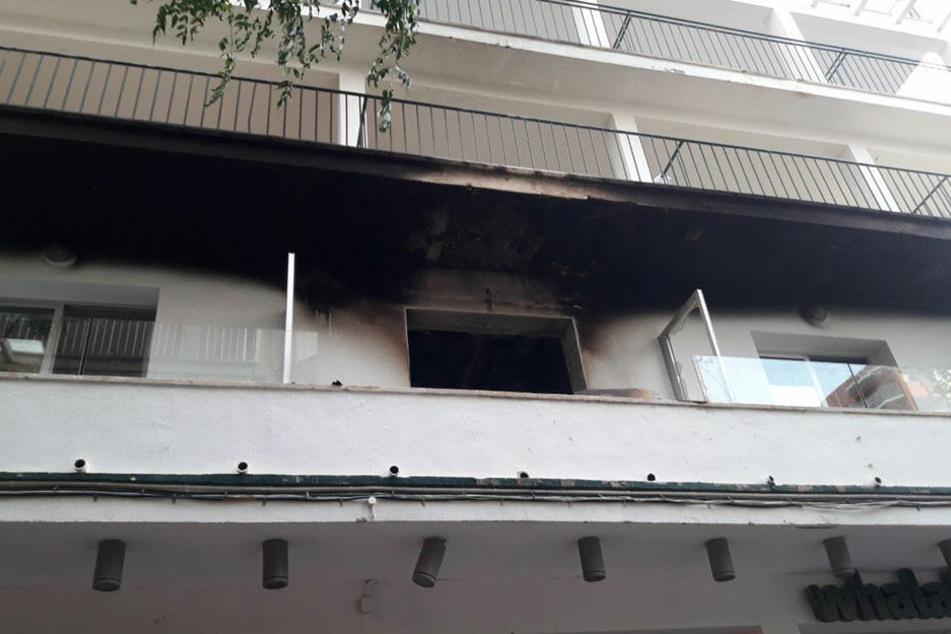 feuer auf mallorca ballermann hotel