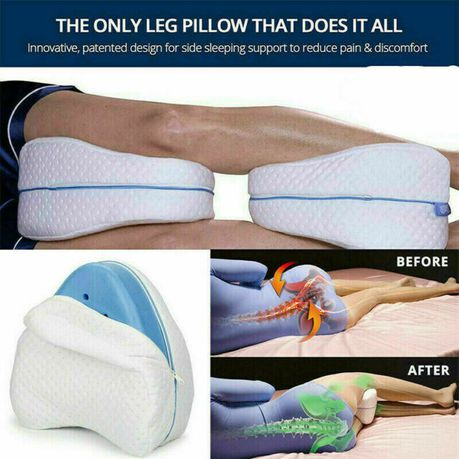 orthopedic memory foam leg pillow with washable cover