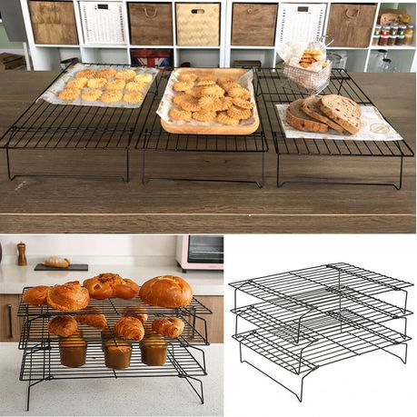 3 tier non stick baking cooling rack thick wire