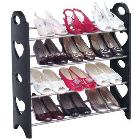 4 tier stackable shoe rack