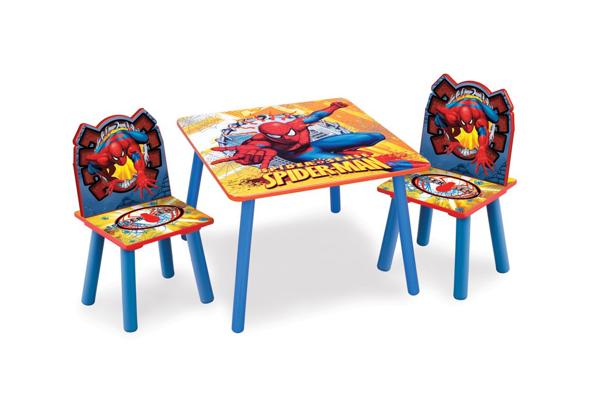 spiderman table and chairs dunelm swivel chair size marvel set buy online in