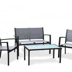 Where To Buy Chair Covers In South Africa Standing Office Fine Living 4 Piece Outdoor Steel Furniture Black