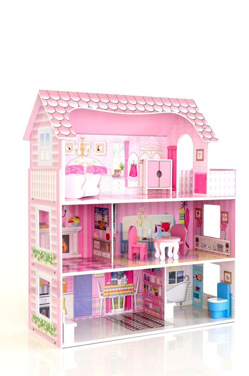 Roly Polyz Wood Lillys Wooden Doll House  Buy Online in South Africa  takealotcom