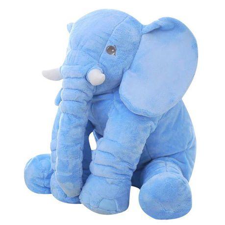 stuffed elephant plush pillow blue