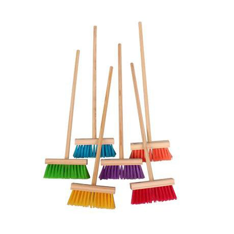 kitchen broom pendant lighting for island ideas bulk pack 5 x kiddies wooden handle assorted colour head buy online in south africa takealot com
