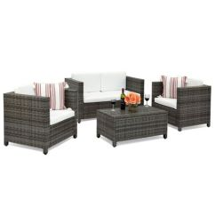 Living Room Sofas South Africa 2 Without Coffee Table Ideas Creative Amelia Wicker Sofa 4piece Set Grey Buy Online In