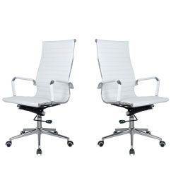 Chair Covers Pretoria Knock Off Barcelona Tocc Set Of 2 Ribbed High Back Office White Buy