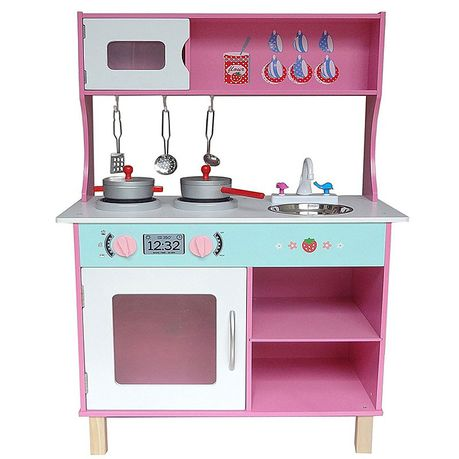 wooden toy kitchen decorative tiles kiddi style large modern pink buy online in