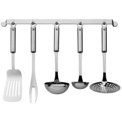 Kitchen Utensil Rack Hardware Ideas Wmf Set Profi Plus Ladles Fork And Lifter With