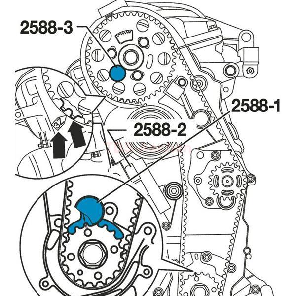 Hazet 2588/3 Zahnriemenwechsel-Werkzeug, 3 tlg.
