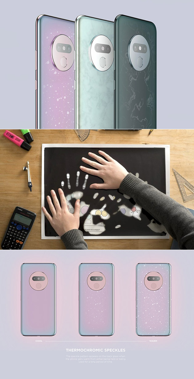 atom smartphone is coated