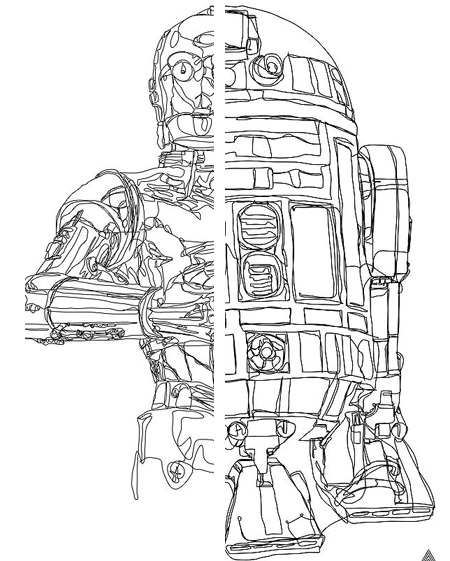 5 Mind-Blowing Continuous Line Star Wars Drawings