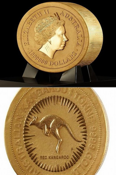 How Much Does A Gold Coin Weigh : weigh, Perth, Creates, World's, Largest, Coin,, Weighs, 1-Ton, TechEBlog