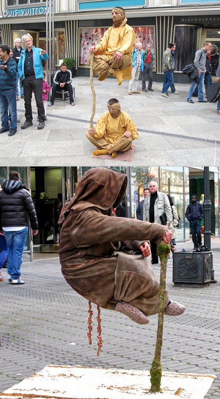 Secret Behind Levitating Street Performers Revealed ...